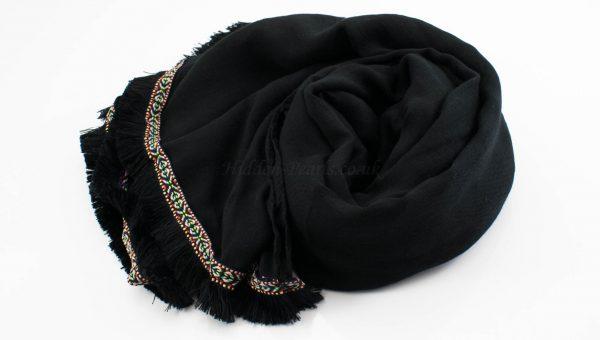 Morrocan Lace Hijab - Black - Hidden Pearls