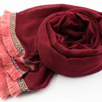 Morrocan Lace Hijab - Rosewood 2 - Hidden Pearls