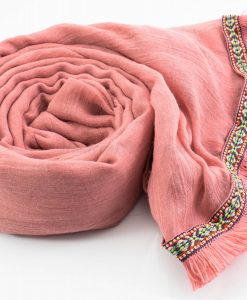 Morrocan Lace Hijab - Spanish Pink - Hidden Pearls