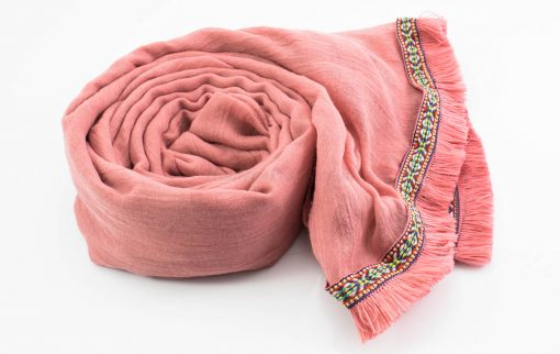 Morrocan Lace Hijab - Spanish Pink - Hidden Pearls