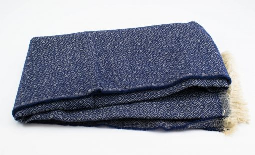 Print Hijab - Navy- Hidden Pearls