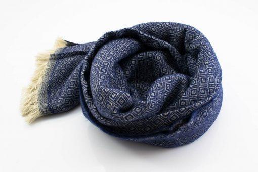 Print Hijab - Navy 2- Hidden Pearls