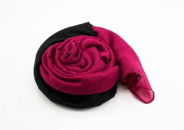 Ombre Hijab Black & Hidden Pearls