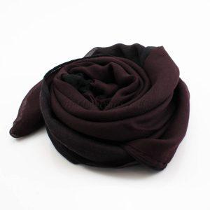 Ombre Hijab Black & Rosewood 3 - Hidden Pearls