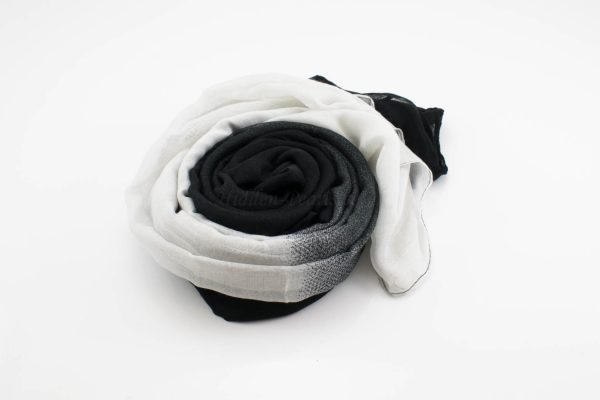 Ombre Hijab Black & White - Hidden Pearls -