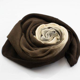 Ombre Hijab Cocoa & Cream - Hidden Pearls