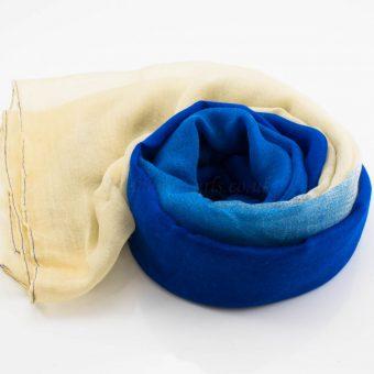 Ombre Hijab Navy Blue & Cream - Hidden Pearls