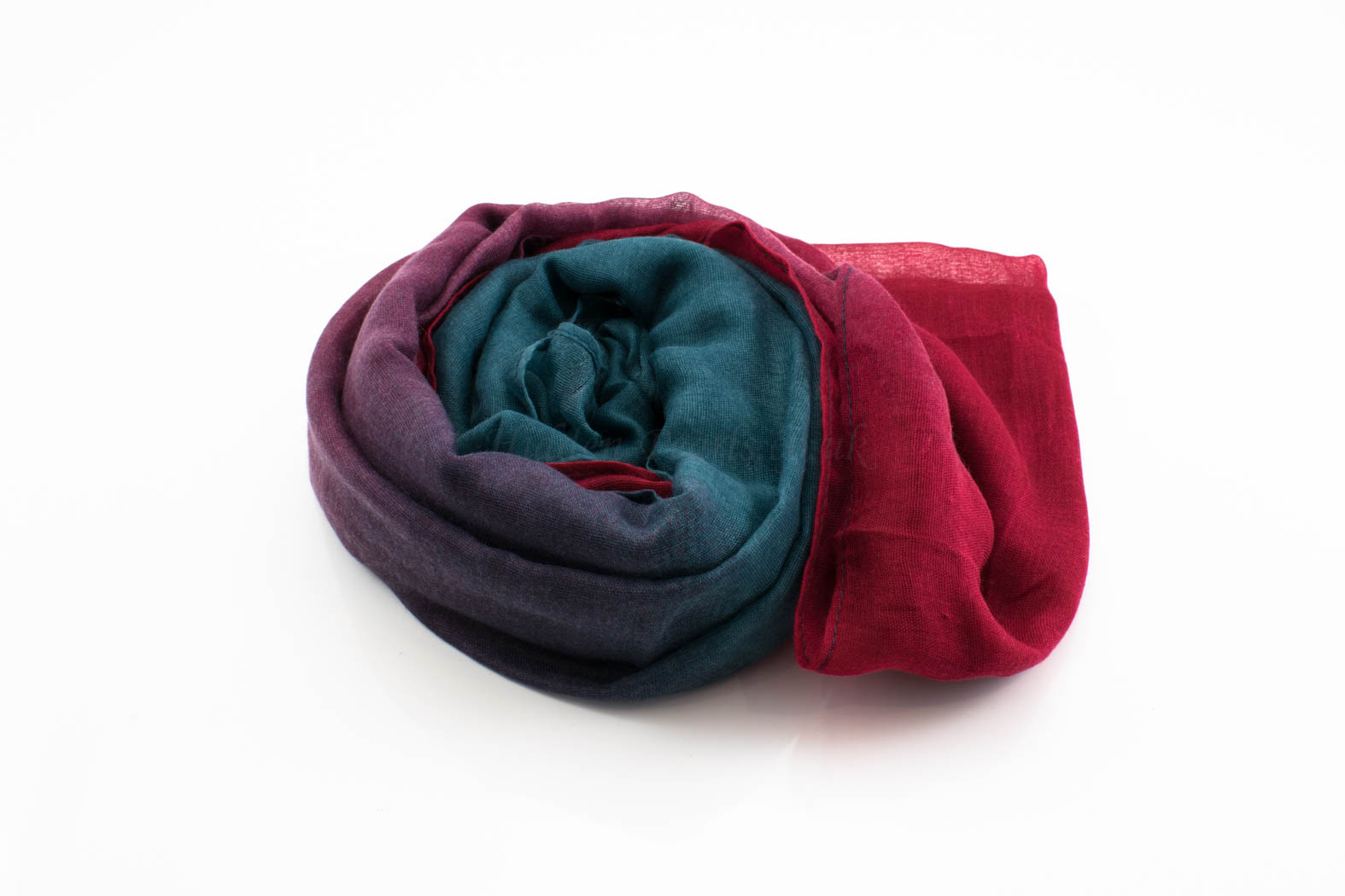 Ombre Hijab Red & Teal 2- Hidden Pearls