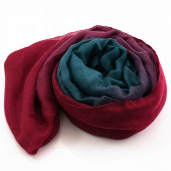 Ombre Hijab Red & Teal - Hidden Pearls
