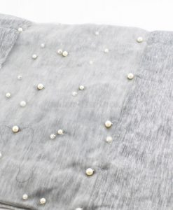 Organza Pearl Hijab - Light Grey 2 - Hidden Pearls
