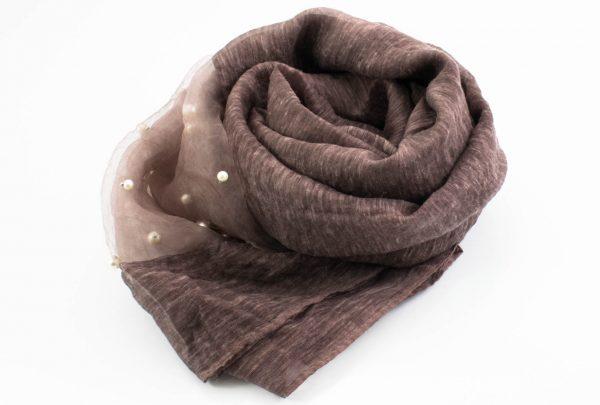 Organza Pearl Hijab - Organza Pearl Hijab - Mauve 2 - Hidden Pearls
