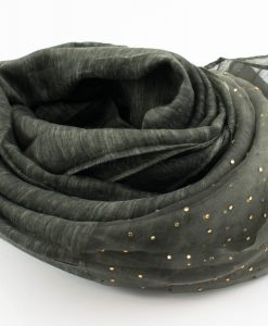Organza Sparkle Hijab - Deep Forest Green - Hidden Pearls