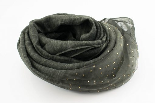Organza Sparkle Hijab - Deep Forest Green - Hidden Pearls