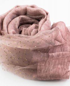Organza Sparkle Hijab - Deep lavender- Hidden Pearls