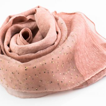 Organza Sparkle Hijab - Dusty Pink 2 - Hidden Pearls