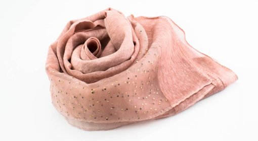 Organza Sparkle Hijab - Dusty Pink 2 - Hidden Pearls