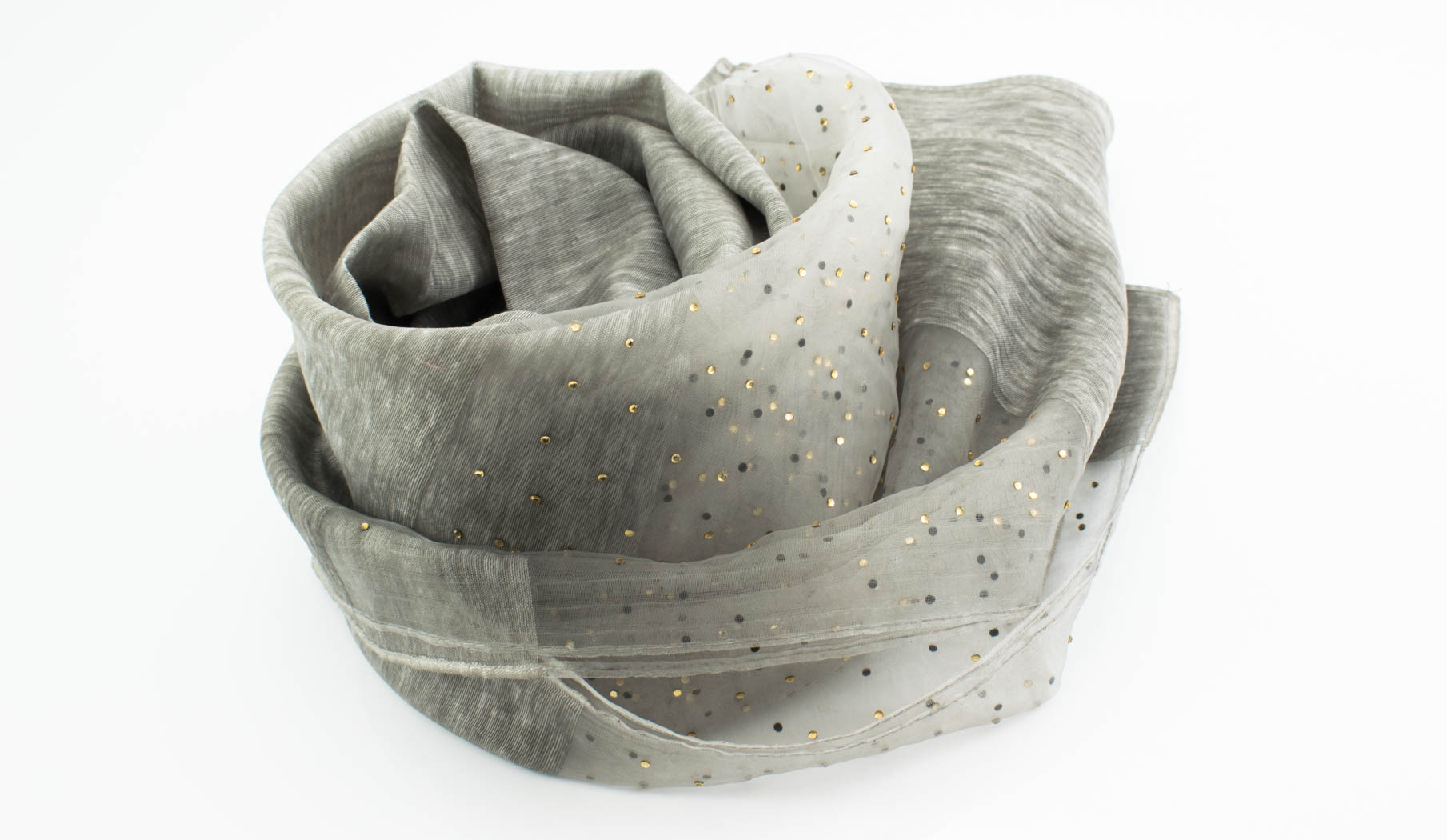 Organza Sparkle Hijab - Light Grey - Hidden Pearls