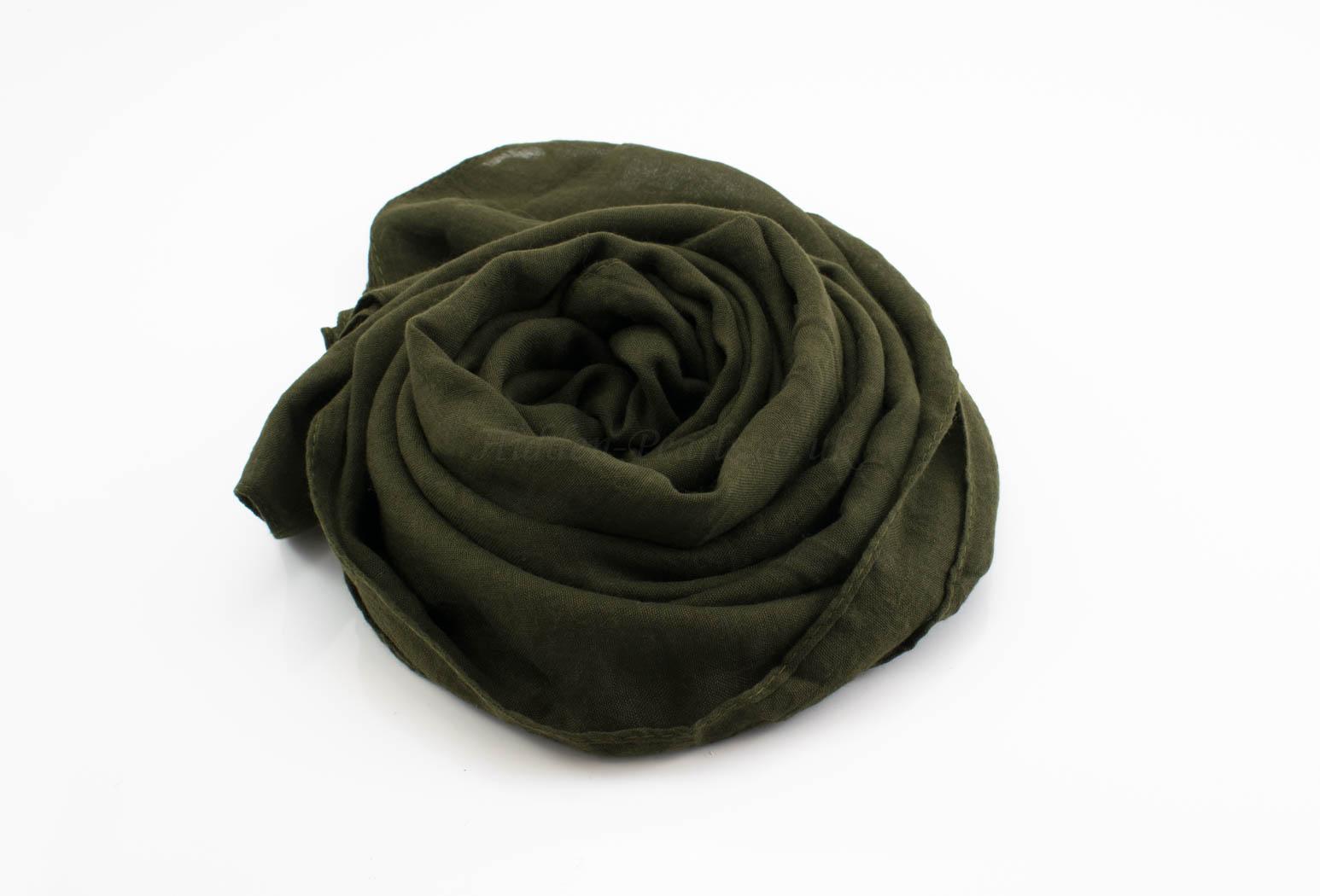 Plain Hijabs Army Green