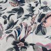 Silk Floral Hijab - Platinum- Hidden Pearls