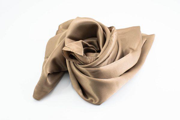 Silk Hijab - Antique Gold 2 - Hidden Pearls