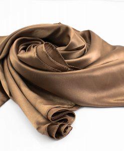 Silk Hijab - Antique Gold - Hidden Pearls