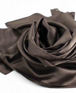 Silk Hijab - Antique Walnut - Hidden Pearls