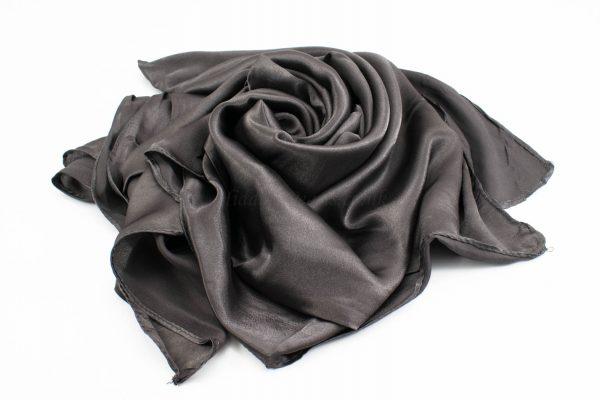 Silk Hijab - Charcoal - Hidden Pearls