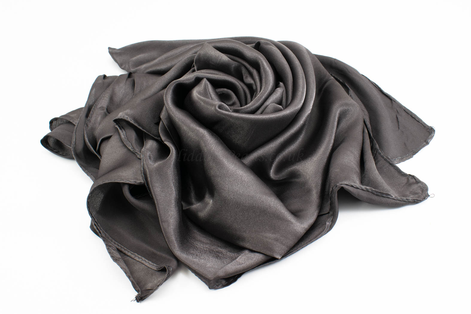 Silk Hijab - Charcoal - Hidden Pearls