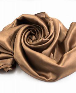 Silk Hijab - Copper Brown - Hidden Pearls