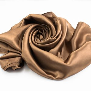 Silk Hijab - Copper Brown - Hidden Pearls