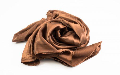 Silk Hijab - Copper - Hidden Pearls