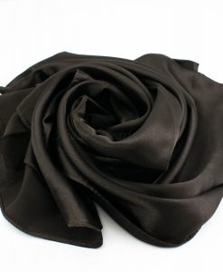 Silk Hijab - Dark Chocolate - Hidden Pearls