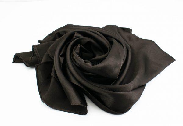 Silk Hijab - Dark Chocolate - Hidden Pearls