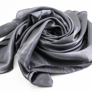Silk Hijab - Dark grey - Hidden Pearls