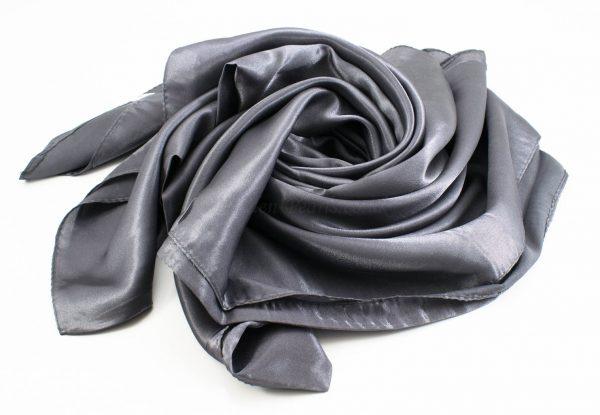 Silk Hijab - Dark grey - Hidden Pearls