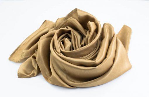 Silk Hijab - Deep Gold - Hidden Pearls