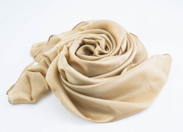 Silk Hijab - Gold - Hidden Pearls
