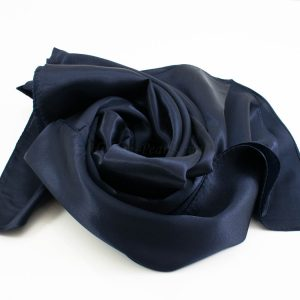 Silk Hijab - Midnight Blue - Hidden Pearls