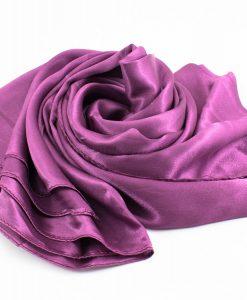 Silk Hijab - Plum - Hidden Pearls