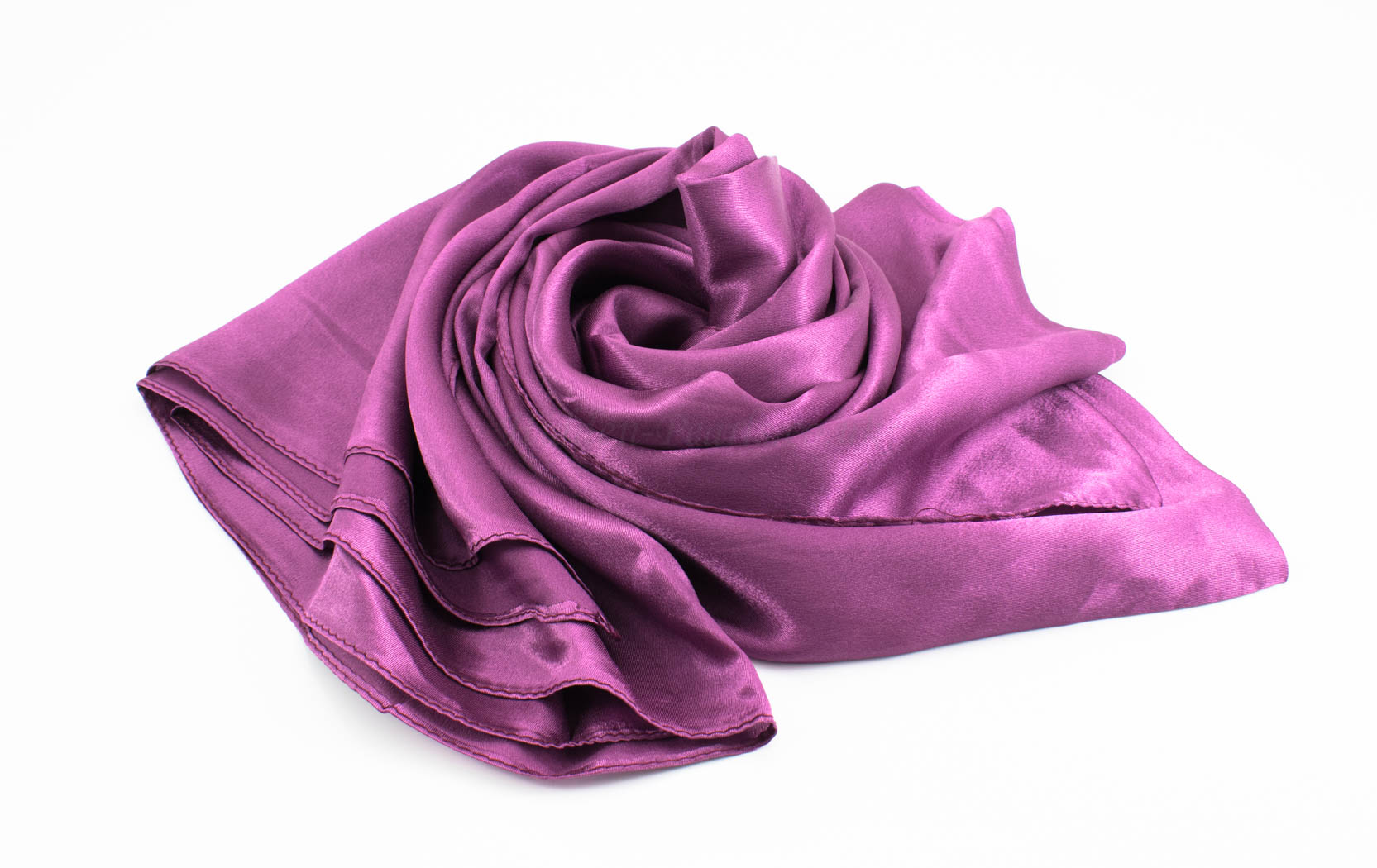 Silk Hijab - Plum - Hidden Pearls