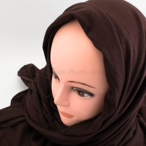 Deluxe Jersey Hijab - Chocolate - Hidden Pearls