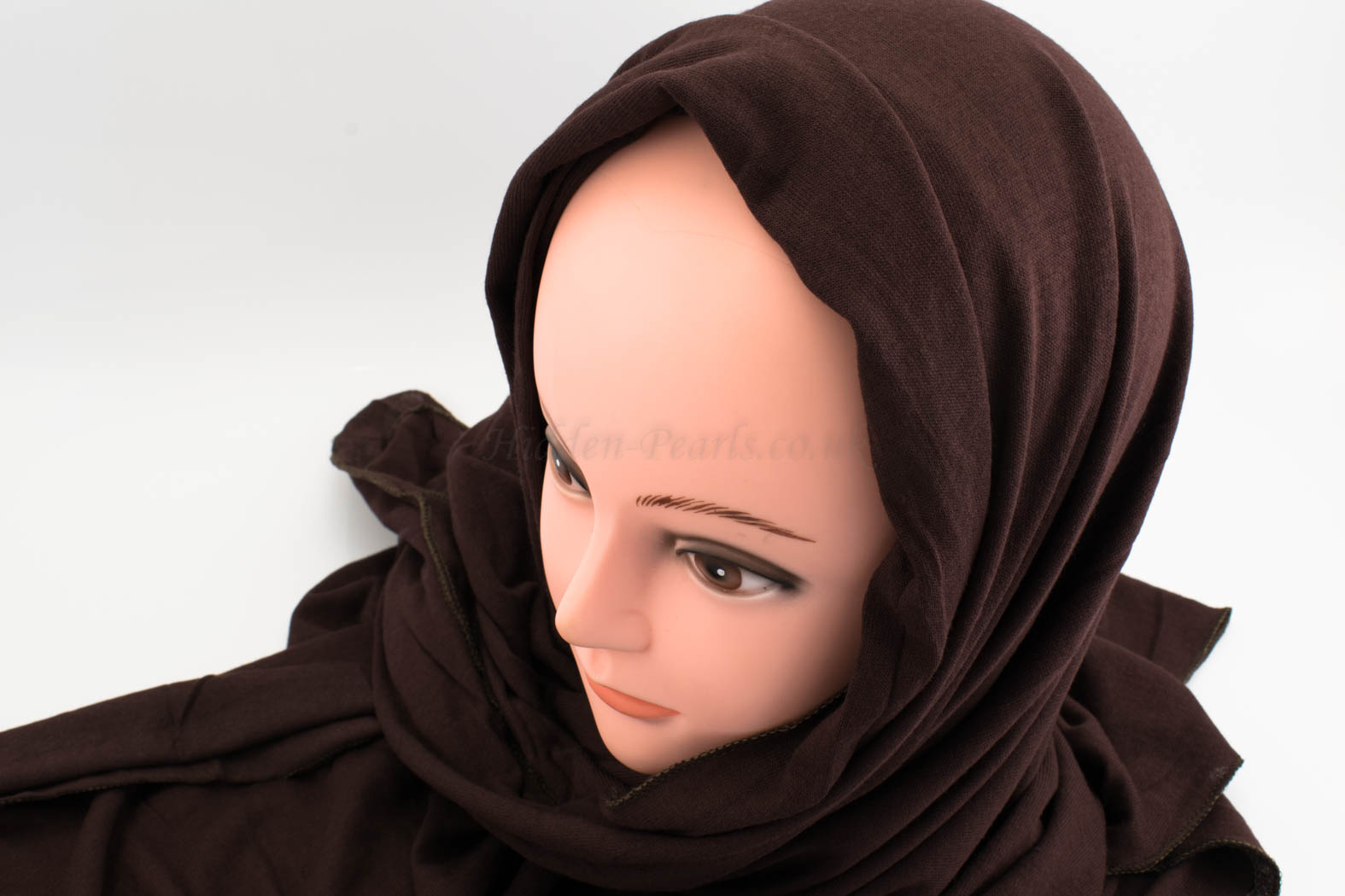 Deluxe Jersey Hijab - Chocolate - Hidden Pearls