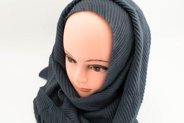 Crinkle Hijab - Slate Blue - Hidden Pearls