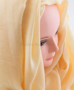 Deluxe Plain Hijab -Beige - Hidden Pearls
