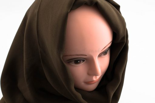 Deluxe Plain Hijab -Chocolate 2- Hidden Pearls
