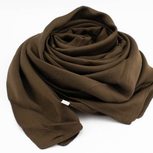 Deluxe Plain Hijab -Chocolate - Hidden Pearls