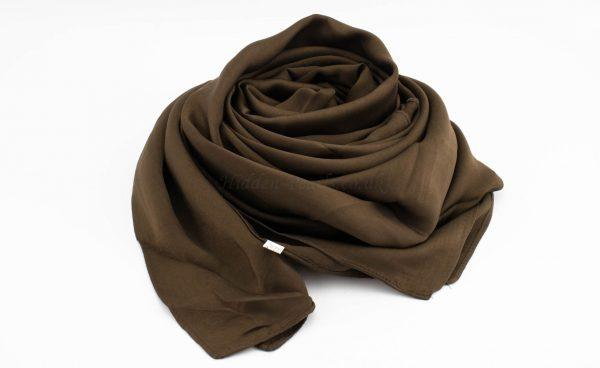 Deluxe Plain Hijab -Chocolate - Hidden Pearls