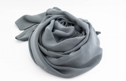 Deluxe Plain Hijab - Dark Grey 2 - Hidden Pearls