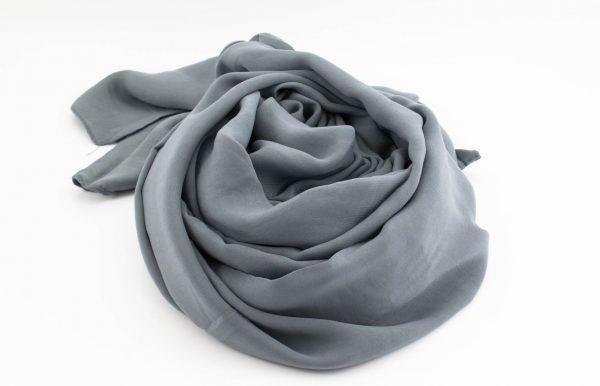 Deluxe Plain Hijab - Dark Grey 2 - Hidden Pearls