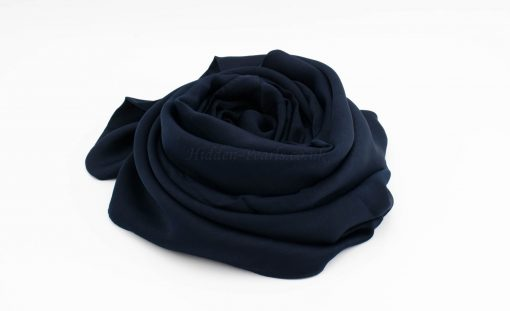 Deluxe Plain Hijab - Navy Blue - Hidden Pearls